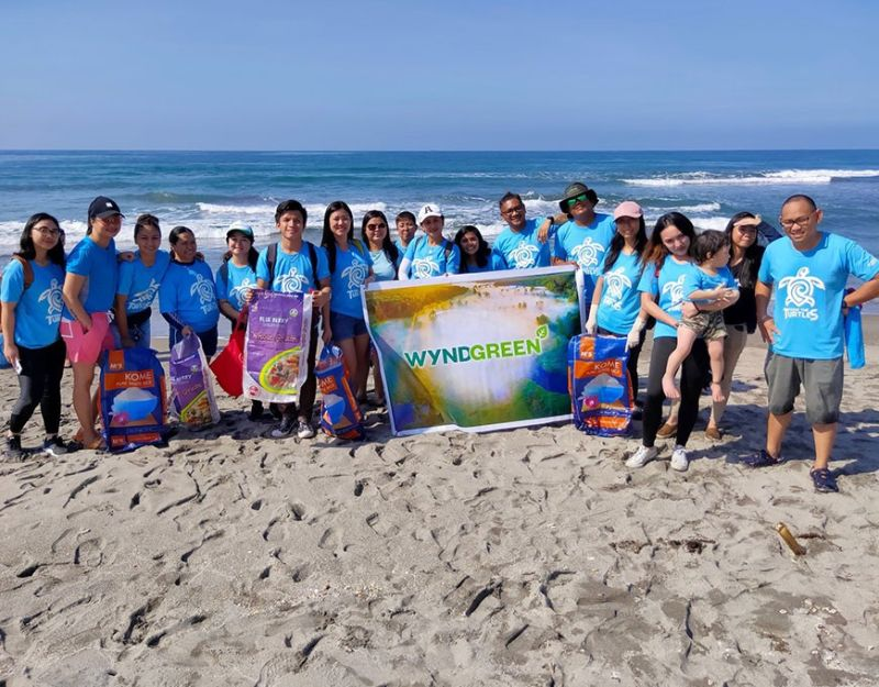 PAMPANGA. A team from the Wyndham Destinations service center in Clark, Pampanga gathered in Morong, Bataan over the weekend to join a local conservation centre safely release sea turtles into their natural habitat. (Contributed photo)
