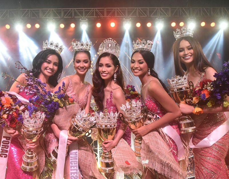 PAMPANGA. Newly crowned queens of Pampanga (from left to right) Mutya ning Porac Maria Ayssa Sarmiento, third runner-up; Mutya ning Angeles City Mary Ann Felker, first runner-up; Mutya ning City of San Fernando Rica Gabriene David, Mutya ning Kapampangan 2019; Mutya ning San Luis Rose Ann Pangilinan, second runner-up; and Mutya ning Mabalacat City Kyle Celine Dorado, fourth runner-up. (Contributed photo)