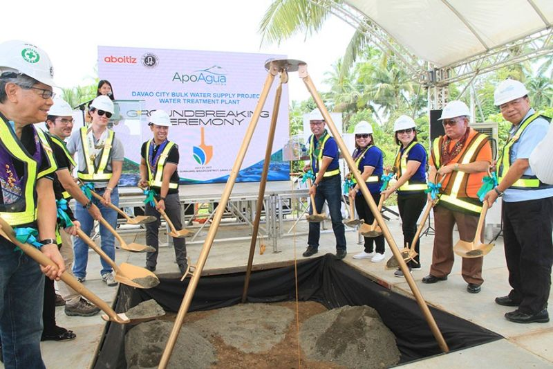 Still in 2017 - Groundbreaking for the construction of a water treatment plant in Barangay Gumalang,