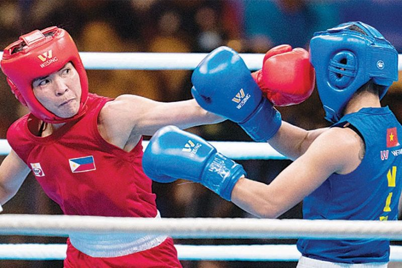 INCENTIVE AWAITS. After finishing her campaign with a gold medal conquest in the 30th Southeast Asian Games, boxer Josie Gabuco of the University of Baguio will be among the Baguio based athletes who will receive an incentive from the City Government of Baguio. (Phisgoc photo)