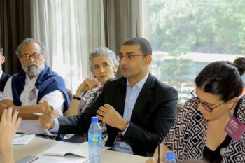 ETHIOPIA. IJM Cebu Field Office Director (2nd from right) speaks during the Fund Violence Fund Grantee Convening in Addis Ababa, Ethiopia. (Photo from IJM)