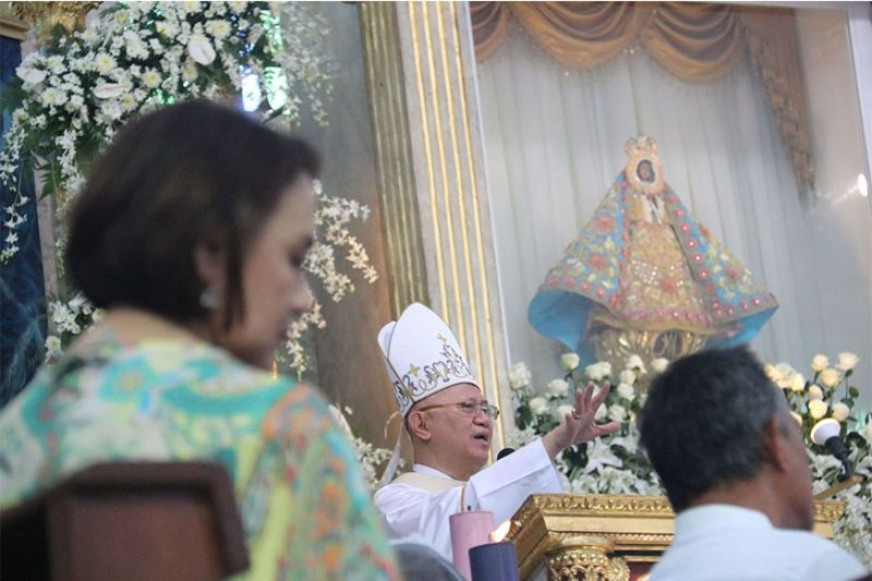 GUIDING VOICE. Cebu Archbishop Jose Palma delivers her homily during the Mass for the fiesta in honor of the Our Lady of Guadalupe in Cebu City on Thursday, Dec. 12, 2019. (Sunstar Photo / Amper Campaña)