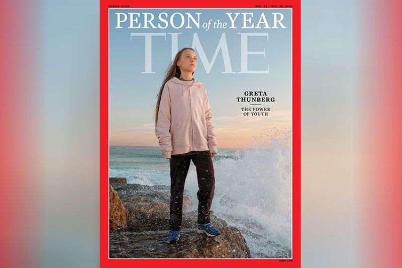 "NEW YORK. This photo provided by Time magazine shows Greta Thunberg, who has been named Time's youngest ""person of the year"" on Wednesday, December 11. The media franchise said on Wednesday, December 11, on its website that Thunberg is being honored for work that transcends backgrounds and borders. (AP)"