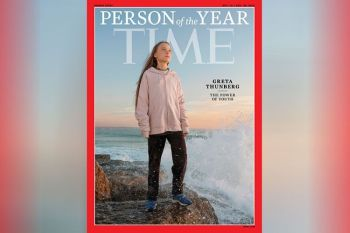 """NEW YORK. This photo provided by Time magazine shows Greta Thunberg, who has been named Time's youngest """"person of the year"""" on Wednesday, December 11. The media franchise said on Wednesday, December 11, on its website that Thunberg is being honored for work that transcends backgrounds and borders. (AP)"""
