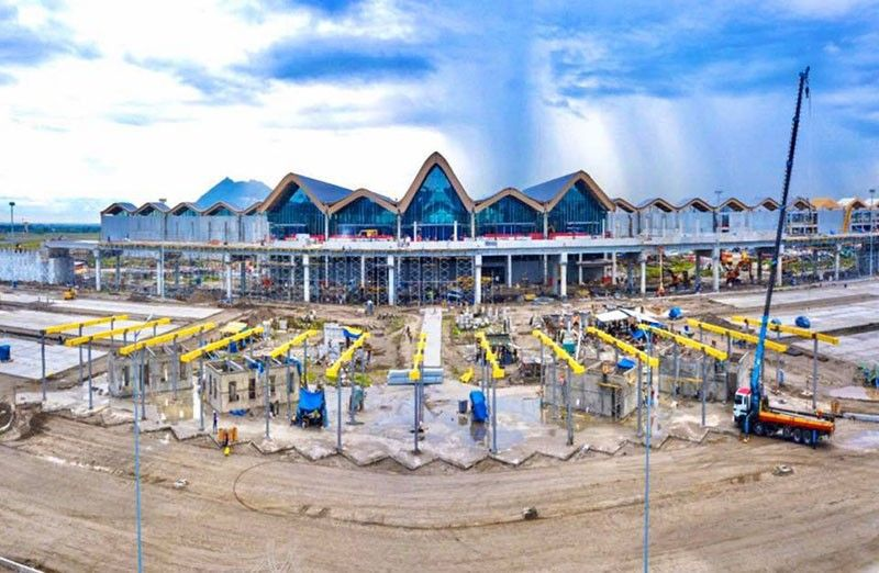 PAMPANGA. Construction of the new Clark airport passenger terminal is on track and would be operational by mid-2020. (Contributed photo)