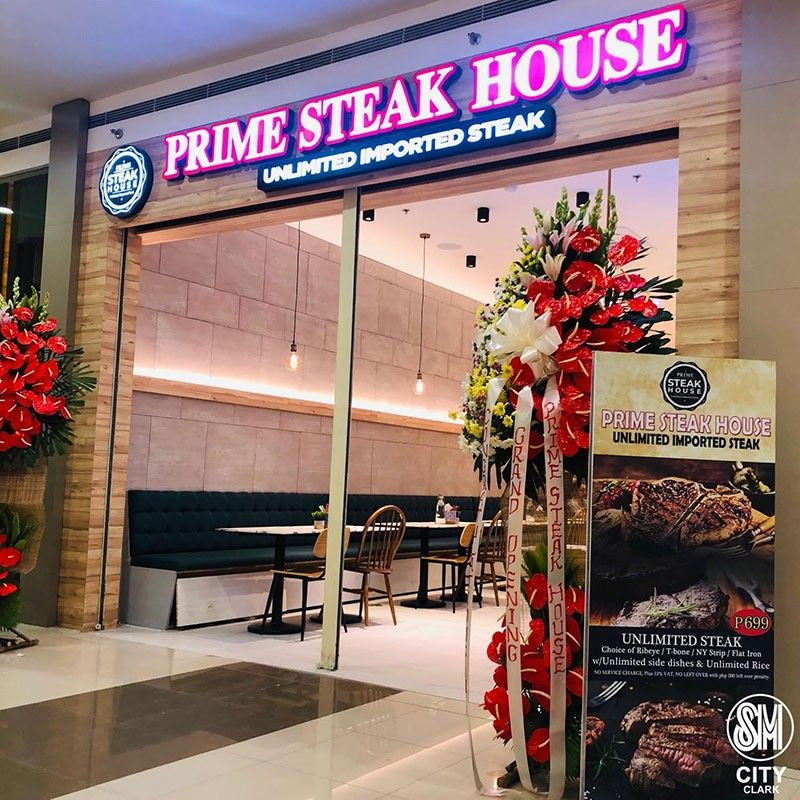 PAMPANGA. Prime Steak House is now open at SM City Clark. (Contributed photo)
