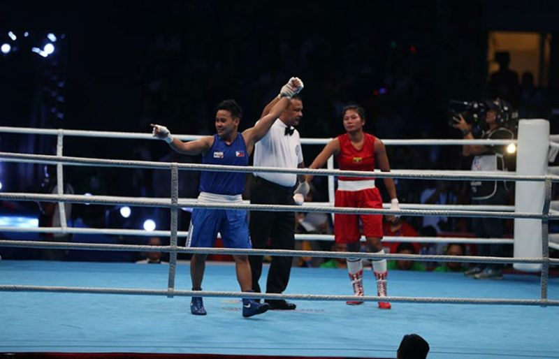 MANILA. Aiba Women's World Boxing 2019 champion Nesthy Alcayde Petecio, 30th Southeast Asian (SEA) Games women's boxing featherweight gold medalist, says she is always excited to visit President Rodrigo Duterte in Malacañang. She and the rest of Team Philippines medalists will pay a courtesy visit to the President Wednesday, December 18. (Contributed photo)