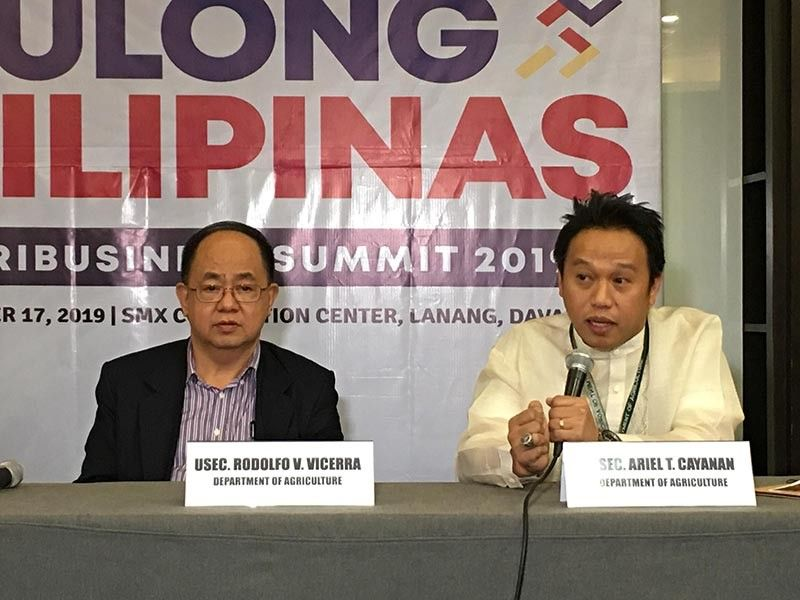 DAVAO. Department of Agriculture (DA) undersecretary for operations Ariel Calayan updates the media on the programs of the agency during the press conference of the Sulong Pilipinas Agribusiness Summit at SMX Convention Center on Tuesday, December 17. (Photo by Roberto A. Gumba)