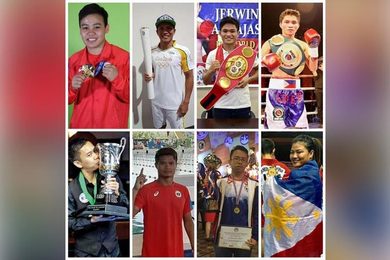 DAVAO. Davao region's top athletes in the past decade include from top left, Aiba Women's World Boxing Championships 2019 featherweight gold medalist Nesthy Alcayde Petecio, 2016 Rio Olympics boxer Charly Suarez, reigning International Boxing Federation (IBF) super flyweight champion Jerwin Ancajas, former International Boxing Organization (IBO) World Lightweight Flyweight champion Rey Loreto; from bottomleft, bottleneck.net 77th World 14.1 Tournament and 888.com World Cup of Pool champion Lee Vann Corteza, World Para Swimming Series silver medalist Ernie Gawilan, Bruges Masters 2018 chess champion international master (IM) John Marvin Miciano and four-time World Sambo bronze medalist Sydney Sy Tancontian. (Contributed photos)
