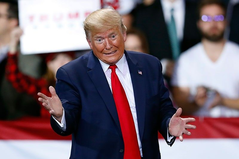 MICHIGAN. President Donald Trump speaks at a campaign rally in Battle Creek, Michigan, Wednesday, December 18, 2019.(AP)