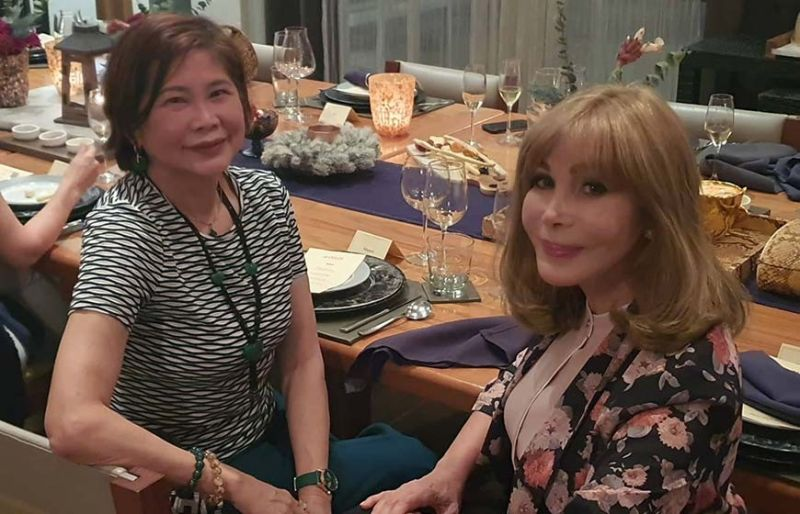 Margaret Gaisano-Ang and Marguerite Lhuillier. (Photo by Arni Aclao)