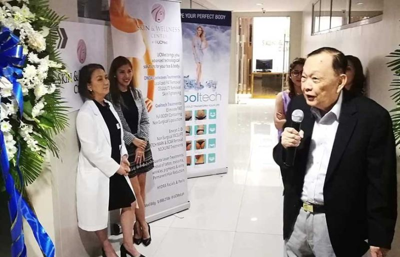 "TAPPING THE BEAUTY, WELLNESS MARKET: Cebuano tycoon Augusto Go says today's market is now inclined to embrace the ""live long"" and ""less stress"" lifetsyle. UCMed's Skin  and Wellness Center offers the most advanced technological solutions such as fat elimination procedures, body sculpting and toning, kinetic face lift, hydrating facials and treatments and advanced laser removal. (SunStar photo / Allan Cuizon)"
