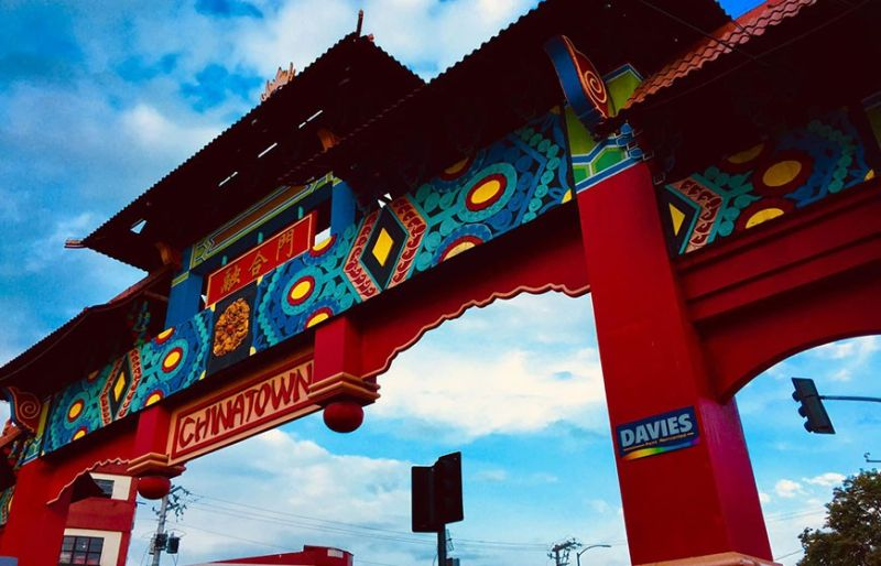 Chinese architectural designs will soon be required to be incorporated in the facade of business establishments in Davao City's Chinatown area. (Photo by Jenald Cañada/Davao Phone Photographers)