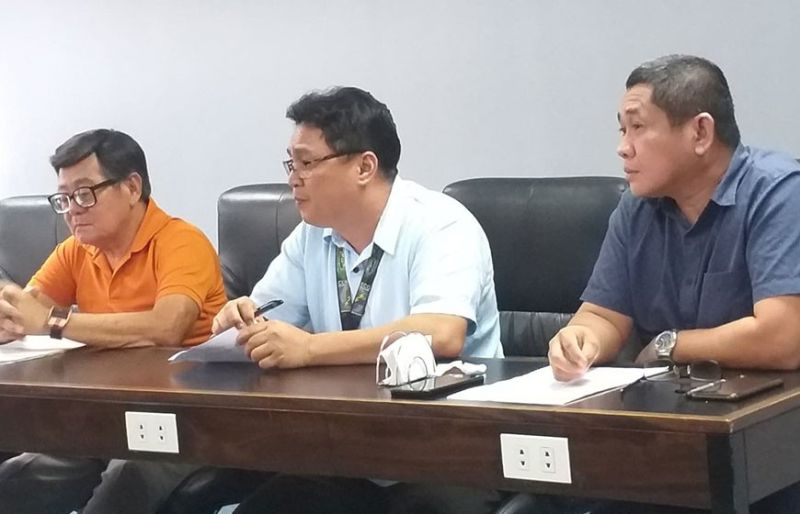 BACOLOD. Ceneco corporate planning manager engineer Norman Pollentes (center) in a press conference in Bacolod City Wednesday, December 18, 2019. (Photo by Erwin P. Nicavera)
