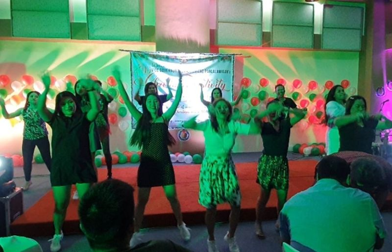 Some SP employees who did a special entertainment number.