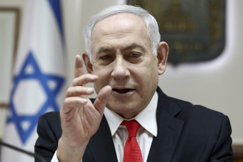 ISRAEL. Israeli Prime Minister Benjamin Netanyahu reacts during the weekly cabinet meeting, at his office in Jerusalem, Sunday, December 15, 2019. (AP)