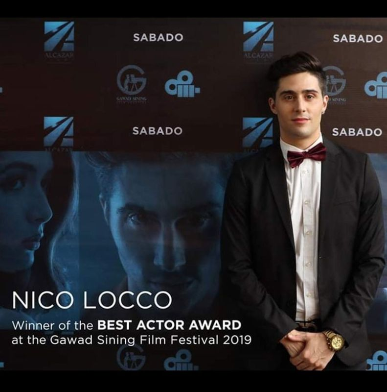 QUEZON CITY. Nico Locco is Gawad Sining Best Actor for 2019. (Contributed photo)
