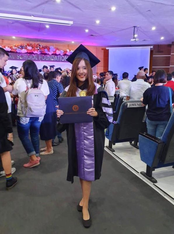 DAVAO. Nadine Angela Paola Macasaet Oreta of Davao City placed eighth in the recently-concluded December 2019 Dentist Licensure Examination held in Manila. She is the lone topnotcher from outside Luzon. (Photo by Fernan Joshua Bantiding)
