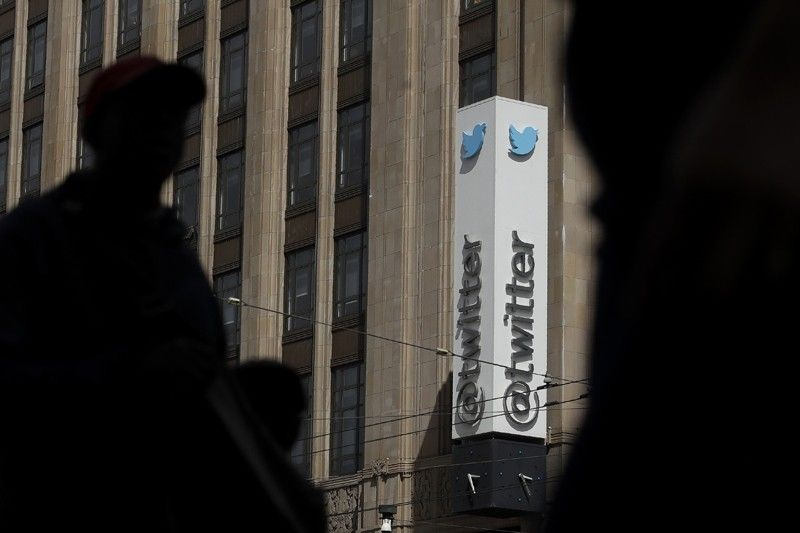 SAN FRANCISCO. This July 9, 2019, file photo shows pedestrians walking across the street from the Twitter office building in San Francisco. Twitter said it has removed nearly 6,000 accounts it has deemed tied to a state-backed information operation in Saudi Arabia. (AP)