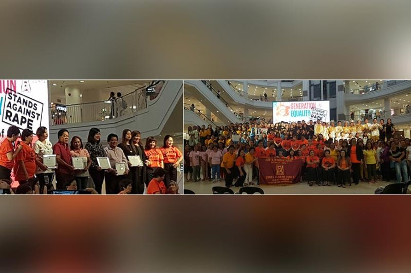 "OPENING SALVO. The Zonta Club of Cebu 1 featured the launch of the 16 ""Days of Activism"" and Conferment of Awards to partners GMA 7 (Ann Marie Tan), 888 Forum (Elias Baquero), Ayala Center Cebu (Bong Dy), Speechcom, University of San Jose-Recoletos, Budlaan and Benedicto College. At right, the huge assemblage of Zonta Cebu 1 and partners; Project of PR Information Networking and Advocacy committees."
