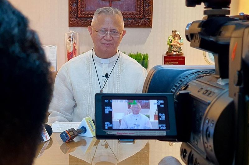 YULETIDE DISPATCH. Cebu Archbishop Jose Palma faces the media to deliver his Christmas message to the faithful at his residence on D. Jakosalem St. in Cebu City on Monday, Dec. 23, 2019. (SunStar photo / Arni Aclao)