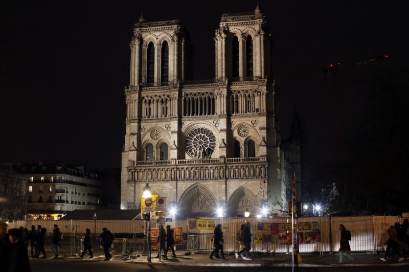 PARIS. Notre Dame cathedral is pictured in Paris, Tuesday, December 24, 2019. Notre Dame Cathedral is unable to host Christmas services for the first time since the French Revolution, because the Paris landmark was too deeply damaged by this year's fire. (AP)