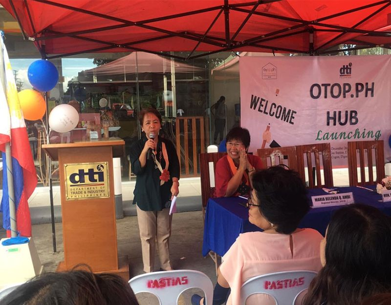 DIGOS. Department of Trade and Industry in Davao Region (DTI-Davao) formally launched the first One Town, One Philippines (Otop) hub in Cor Jesu Shell Gas Station in Digos, Davao del Sur on Thursday, December 26. (Photo from Negosyo Center Sulop Facebook page)