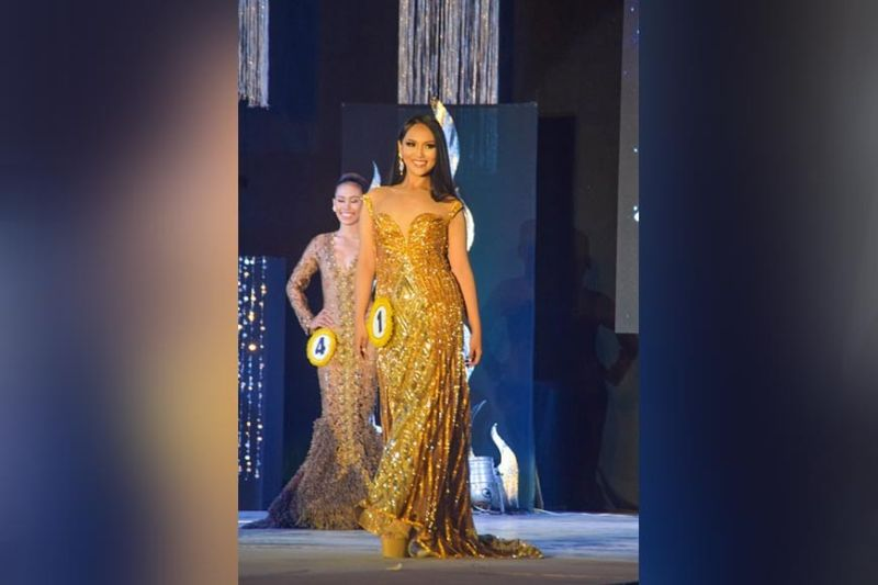 Lin-ay sang Sipalay Juliet Angeline Debuyan-Alvarez promenades in her evening gown. (Contributed photo)