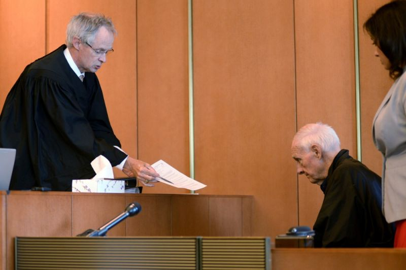 BOSTON. In this Monday, August 10, 2015 file photo, Judge Timothy Feeley (left) addresses former the Rev. Richard J. McCormick, 74, in Salem Superior Court in Boston. Joey Covino said the entirety of his adult life had been altered by McCormick's abuse over two summers at a Salesian camp -- failed relationships, his decisions to join the military and later the police, nightmares that plagued him. His decision to come forward led to McCormick being convicted of rape in 2014 and sentenced to up to 10 years. McCormick since has pleaded guilty to assaulting another boy. (AP)