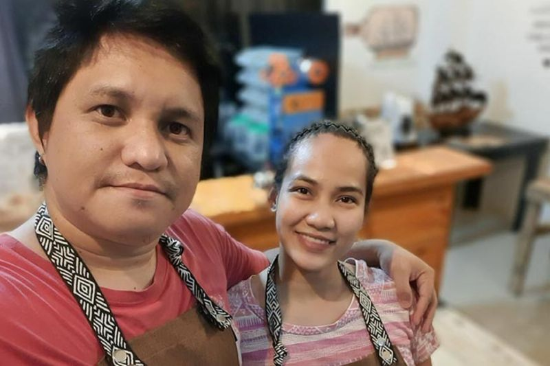 DAVAO. Liezel Joy Cañon and her husband, Clyde Reb established Bubble Tribe Davao together. Liezel managed the store and Clyde delivered orders to customers. (Contributed photo)