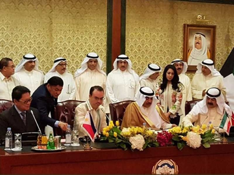KUWAIT. The Philippines and Kuwait signed in May 2018 an agreement upholding and promoting the rights and welfare of overseas Filipino workers in Kuwait. (File Photo)