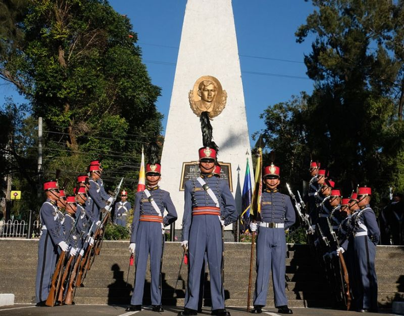 BAGUIO. Cadets from the Philippine Military Academy join the commemoration of Dr. Jose Rizal's death anniversary December 30 at the Rizal Park in Baguio City. (Contributed photo)