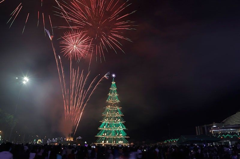 DAVAO. Tagumenyos welcomed the 2020 with a grand fireworks display. (Photo by Tagum City Information Office)