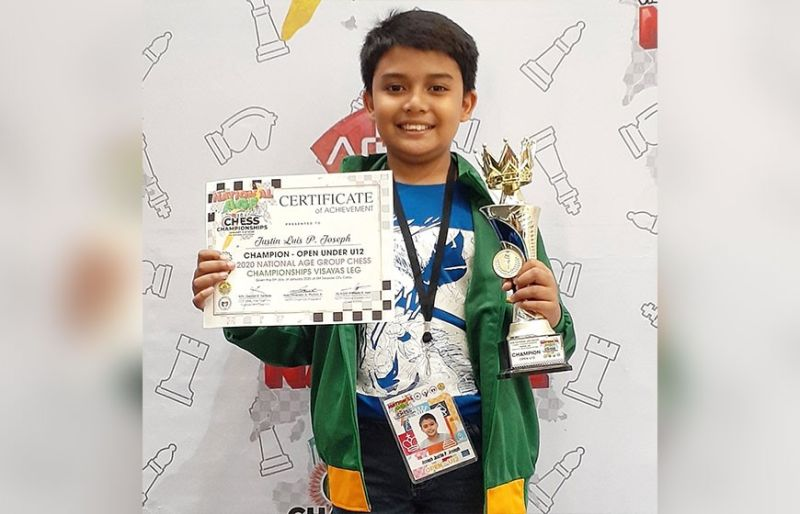 NATIONAL FINALS. Justin Luis Joseph of the University of San Carlos-Basic Education Department is headed to the national finals after winning the 12-Under crown. (Contributed photo)