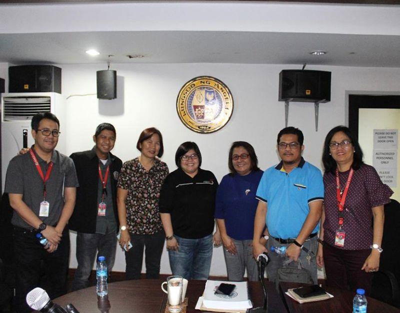 ANGELES CITY. On behalf of Angeles City Mayor Carmelo 'Pogi' Lazatin Jr., Chief Adviser IC Calaguas and Executive Assistant IV Reina Manuel ironed out the improvement in real property tax payment by implementing an online payment system with Roy Bato of IBS Worldwide Corp., City Treasurer Juliet Quinsaat, City Assessor Officer Lea Dizon, City Assessor's Office Tax Mapper Michael Calaguas, and Information and Communication Technology Division (ICTD) Chief Jhun Bacani on January 6, 2020. (Contributed by Kim Tayag)