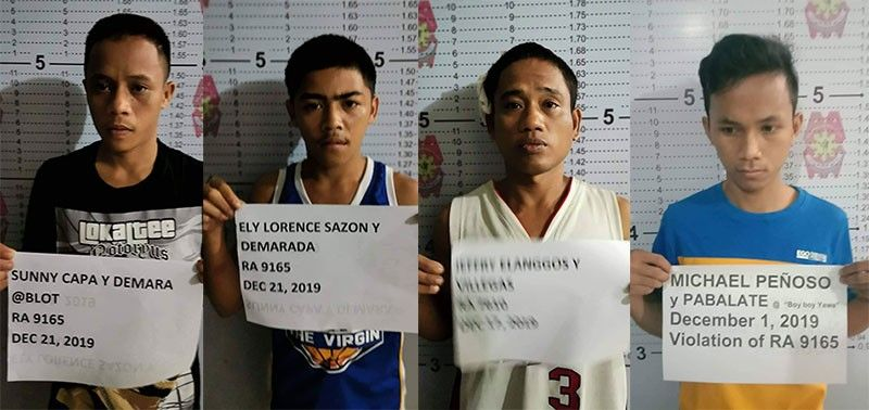 BACOLOD. Four detainees of Bacolod City Police Station 3 on the run. (Photo courtesy of Bacolod City Police Office)