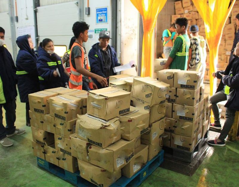 CAGAYAN DE ORO. About 142 boxes of pork products were intercepted in Cagayan de Oro. (Photo courtesy of CIO)