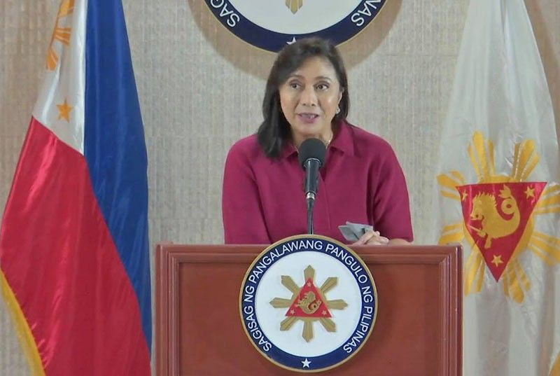 Vice President Leni Robredo in a press briefing Monday, January 6, 2020. (Screenshot from video posted on Robredo's Facebook page)