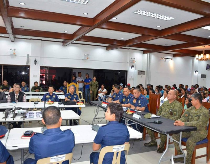 PAMPANGA. Police Regional Director PBGen. Rhodel Sermonia presented the 70 new rebel returnees in Central Luzon on Monday. (PRO-Central Luzon RPIO)