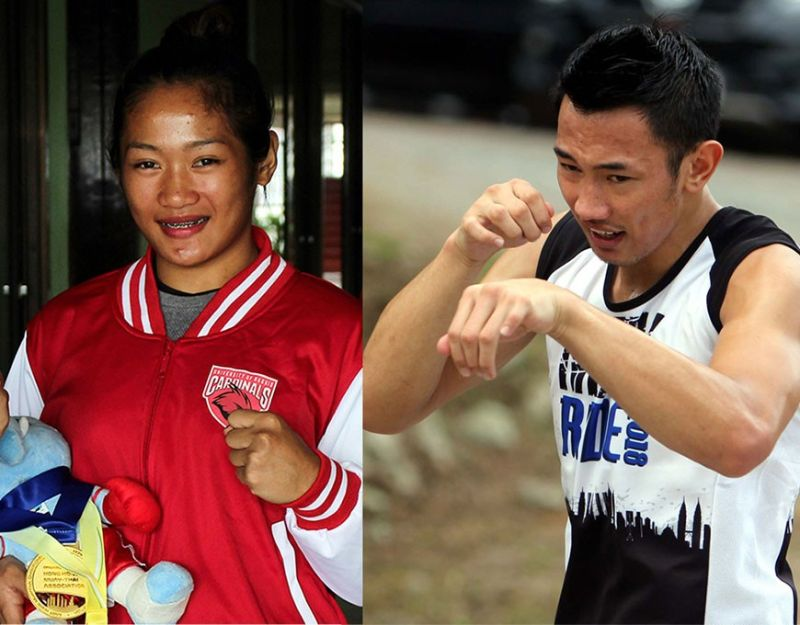BOKOD. Southeast Asian Games medalists and sibling Jenelyn and Jerry Olsim. (SSB file photos)
