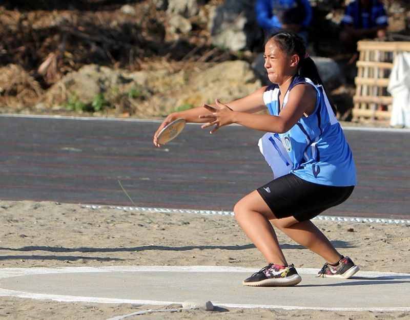 BAGUIO. A Baguio athlete competes during the 2019 edition of Caraa held in Apayao. With Baguio City hosting the weeklong competition, the Summer Capital is mulling to implement a plastic-free sports meet. (SSB file photo)