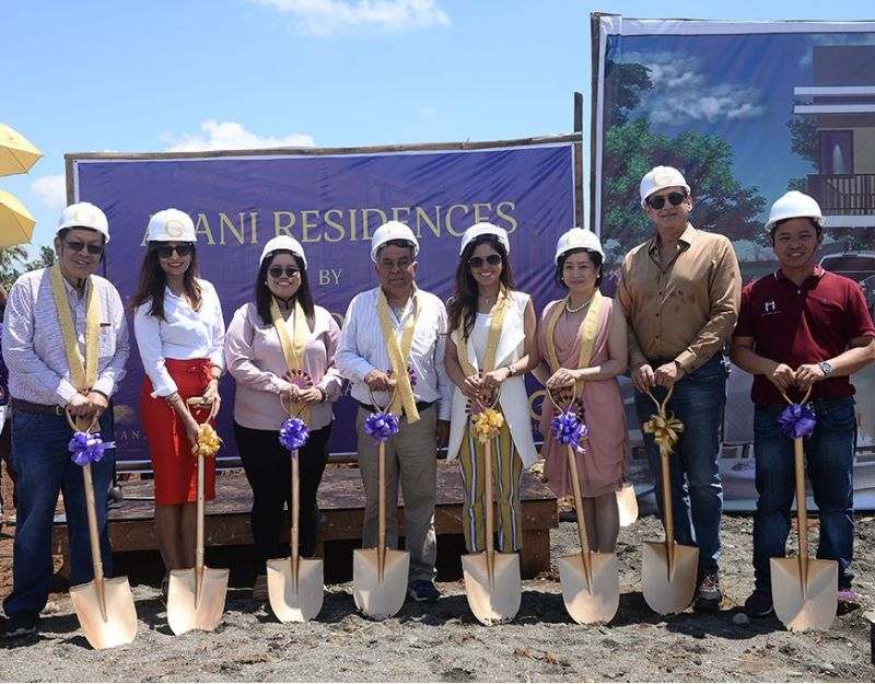 DAVAO CITY. Avani Residences break ground in Mintal, Davao City which was led by Golden 8 Construction and Development Corp. CEO Dilip K. Budhrani (second from right). (Contributed by Golden 8 Corp.)