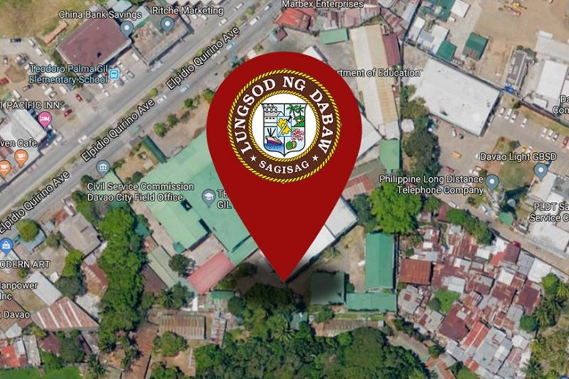 (Photo from Google Map; Logo from City Government of Davao Faceebook page)