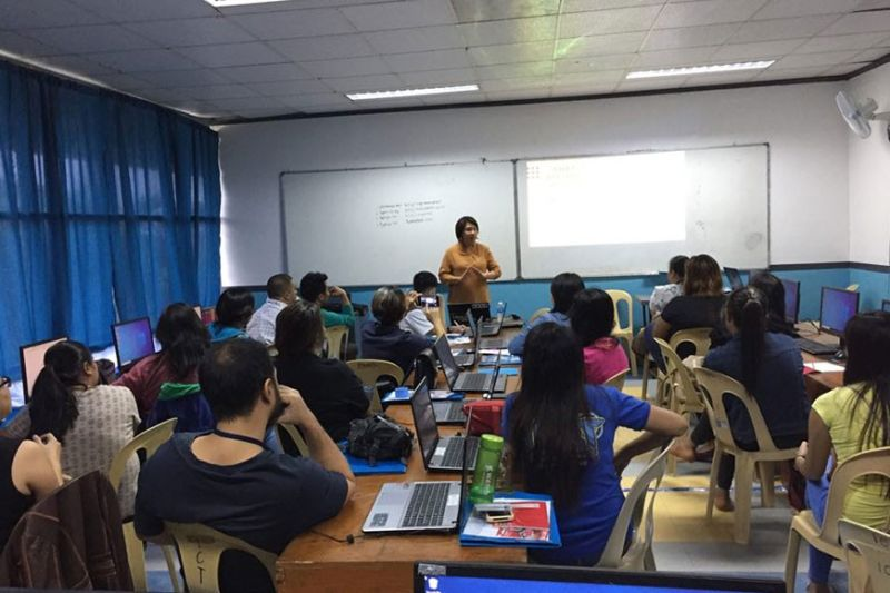 NEGROS. One of the sessions attended by 17 scholars in Talisay City in December last year. For this year, 25 scholars from Victorias City will also undergo the virtual assistance training. (Contributed Photo)