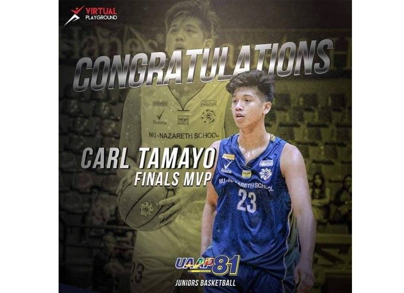 Carl Tamayo of Talisay, the son of late USP Panther Simpoy Tamayo and former SWU Spiking Cobra Hermenia Cabellon Tamayo is currently leading the National University in the second round of the UAAP Juniors tournament in Manila.  (Contributed photo)
