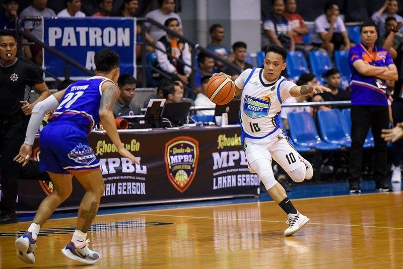 Cebuano guard Joseph Nalos had 11 points four rebounds and five assists to help Bataan upset the Manila Stars. (MPBL photo)