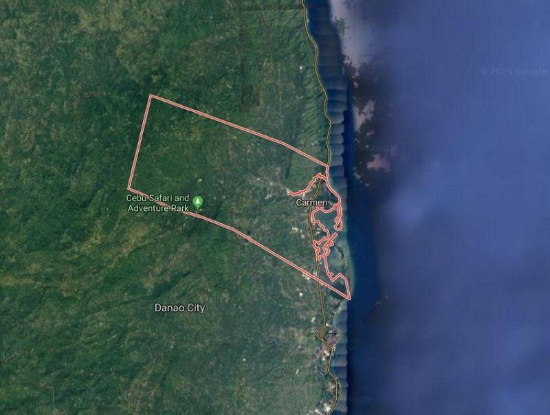 Carmen, Cebu map. (Google Maps)