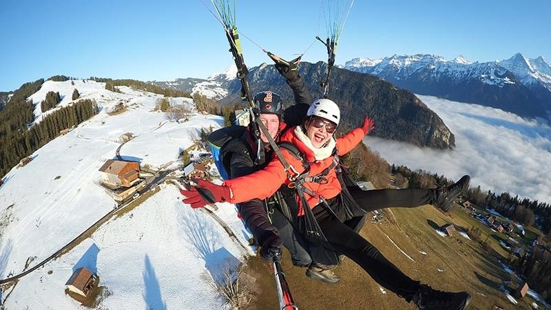 GERMANY. Soaring high above the majestic Swiss Alps on New Year's Day was an absolutely exhilarating way to welcome 2020 and magically end the author's epic Swiss escape. (Jeanette Huang-Teves)