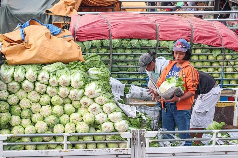 BENGUET. With the over production of vegetables, traders and farmers in Benguet are seeking the help of Baguio City mayor Benjamin Magalong to sell their produce every Sunday at Session Road. (Photo by Jean Nicole Cortes)
