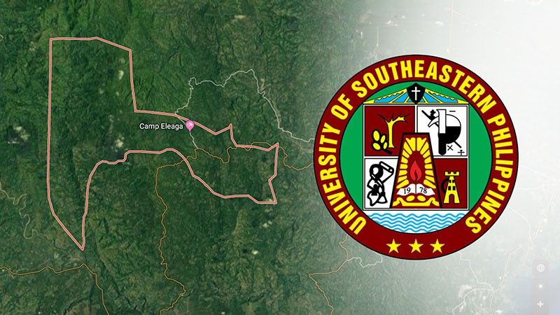 (Photo by Google Map; Logo credit to Usep Facebook Page)